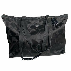 Coach Signature Nylon Packable Travel Weekender